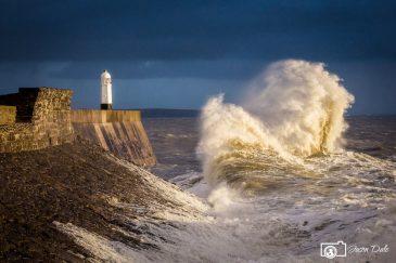 Stormy Seas At Porthcawl Lighthouse