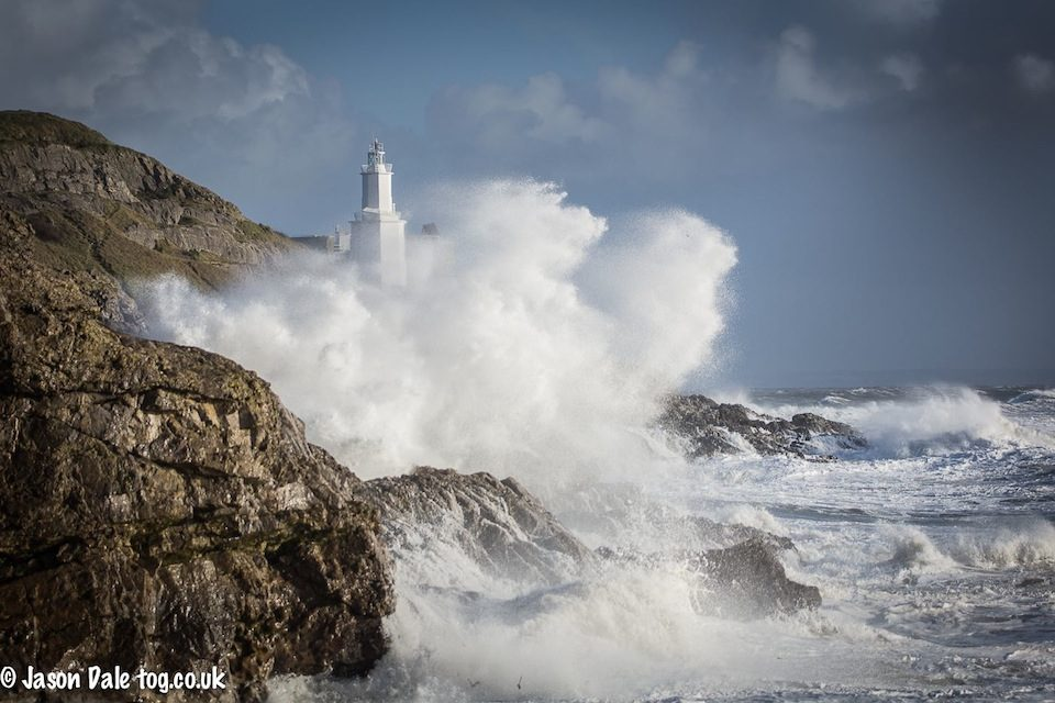 Stormy Seas At Mumbles Lighthouse