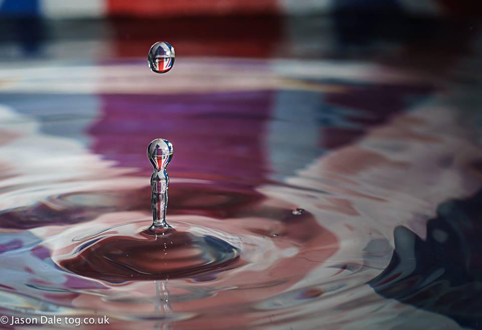Scottish Referendum Water Drop Photography