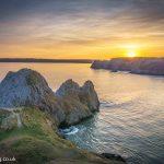 Sunset At Three Cliffs Bay