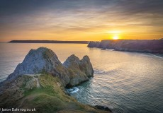 Three Cliffs Sunset 1