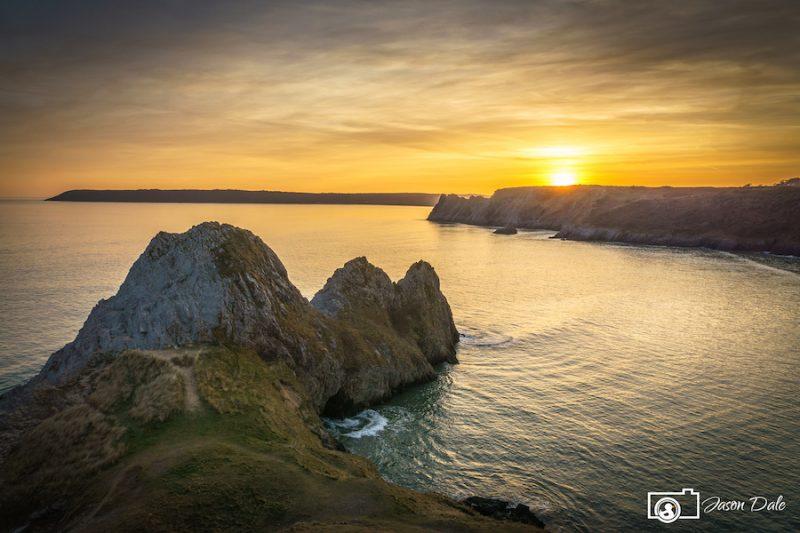 Three Cliffs Sunset