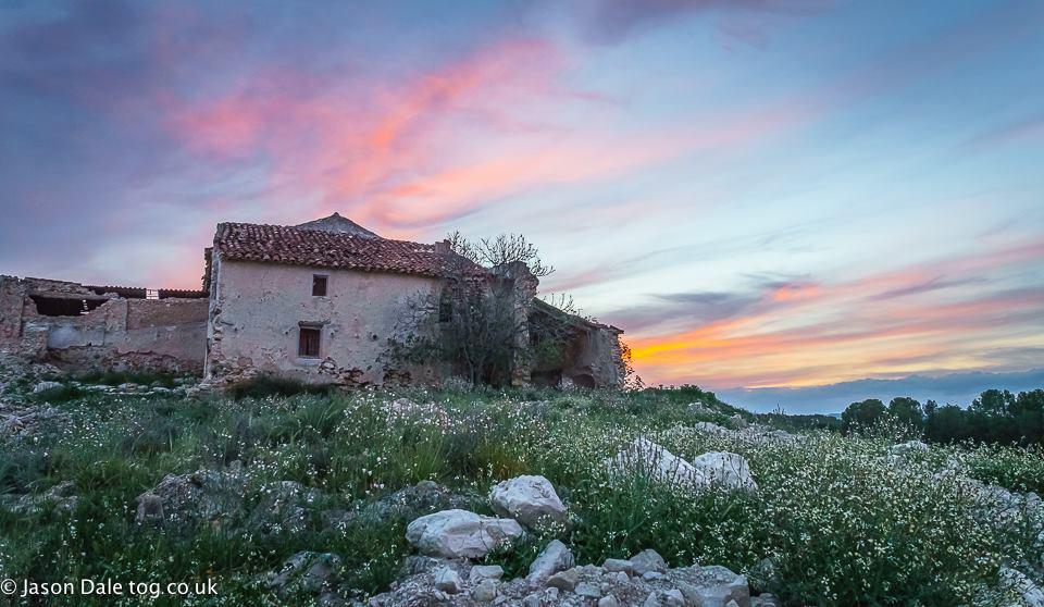 Spanish Ruin Sunset