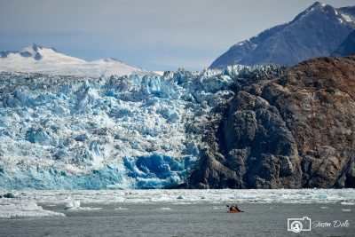 Kayak At Tracy Arm Fjord