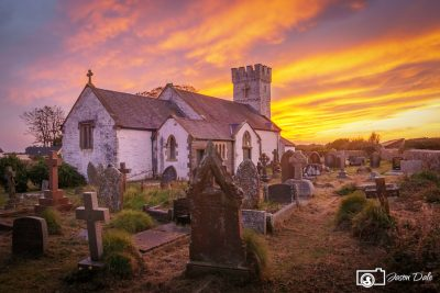 Pennard Church Sunset